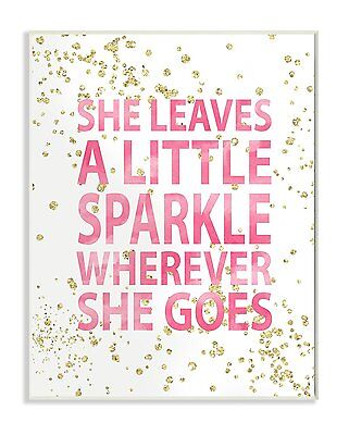 "The Kids Room by Stupell ""She Leaves A Little Sparke"" Wall Plaque Art #13"