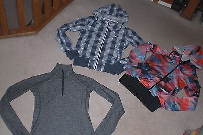 Lot of 2 Womans Bench Jackets /  Hoodies and Half Zip Luon Pullover sz XS