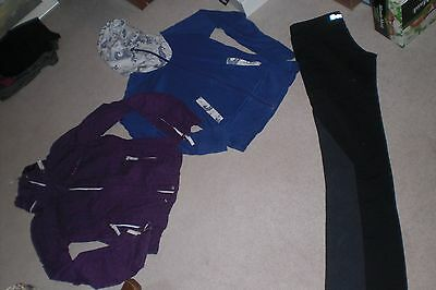 Lot of 3 Womans Bench Jackets / Hoodies and 1 pair of Leggings sz M