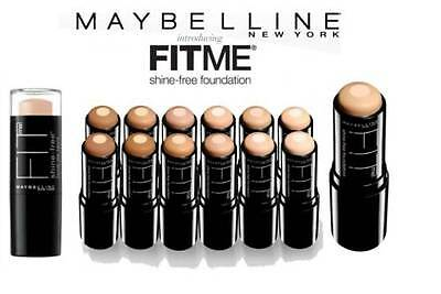 MAYBELLINE FIT ME Anti Shine Foundation Stick 9ml Various Shades