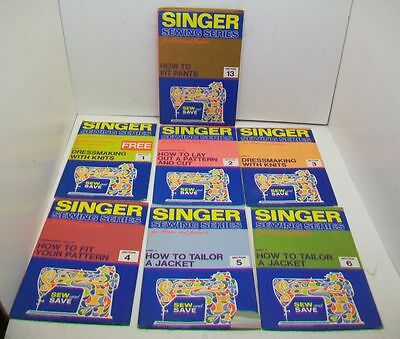 Lot/7 Singer Sewing Series for Home and Fashion, Sections 1-6 & 13.