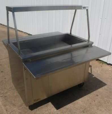 """Restaurant Equipment Duke 44"""" Portable Ice-Cooled Cold Food Table Aerohot w/ She"""