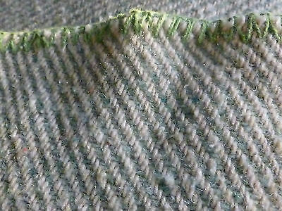 Vintage folk art throw blanket Homespun?wool in old green and blanket stitchec e