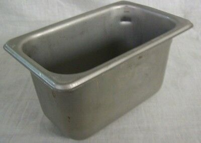 """Restaurant Equipment 3 STAINLESS STEEL STEAM TABLE PANS 1/9TH SIZE 4"""" DEEP"""