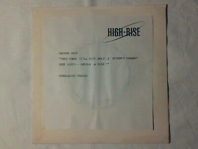 """FASTEN BELT Your tears 7"""" TEST PRESSING RARISSIMO COME NUOVO VERY RARE LIKE NEW!"""