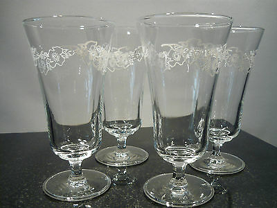 4 X Tall Glasses