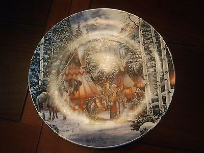 """Before The Hunt""~ 1st issue SACRED CIRCLE Series Collector Plate by Kirk Rondle"