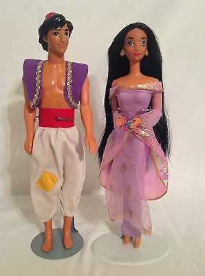 Disney Princess Jasmine And Aladdin Barbie Dolls Mattel