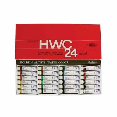 NEW Holbein Artists' Transparent Watercolor 24 Colors Set #2 Tube (5ml) F/S