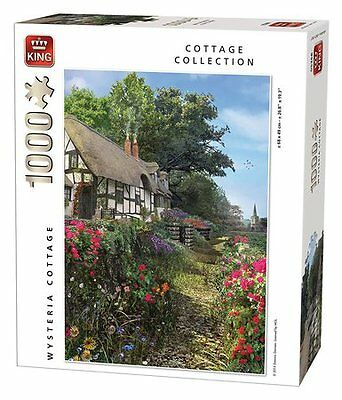Wysteria Cottage 1000 piece Jigsaw Puzzle Classic Collection by King 5368