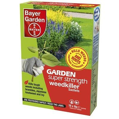 Bayer Garden Super Strength Glyphosate Weedkiller (18 Sachets) Pack