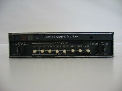 Collins AMR-350 Audio Panel  and Marker Beacon Receiver - Certified and Tagged