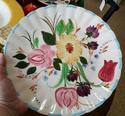 Blue Ridge Pottery Hand Painted Plate Southern Potteries