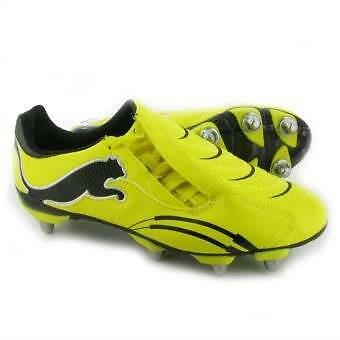 Puma Powercat 3.10 Soft Ground Rugby Shoes Boots Yellow 100% Authentic