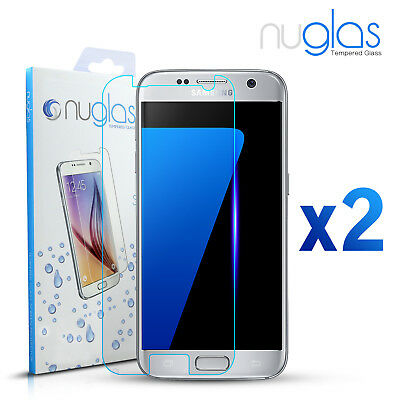 2X GENUINE NUGLAS Tempered Glass Screen Protector Film For Samsung   Galaxy S7