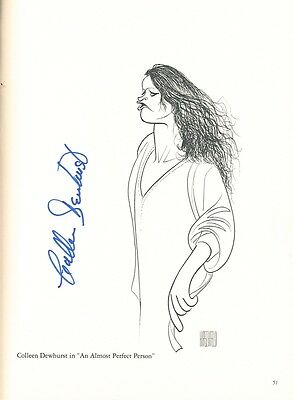 Colleen Dewhurst Rare Autographed Al Hirschfeld Print With Coa