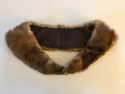 Final  Vintage Mink Collar  Clip Clasps Closure  Euc
