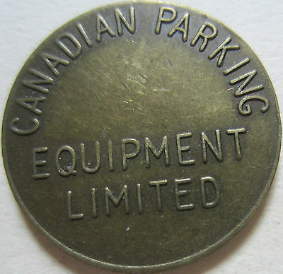 Good For 'parking Only: Canadian Parking Equipment Limited' Token (K377)