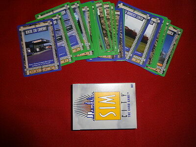 SIM CITY Collectible Card Game lot 400+ loose cards/50+ booster pack long cards