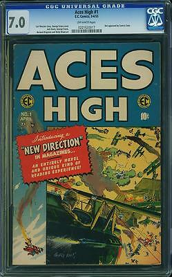 ACES HIGH #1 CGC 7.0 FNVF - 1955, George Evans cvr, not approved by Comics Code