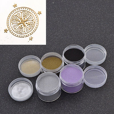 Embossing Powder DIY Craft Stamp Supplies Metallic Heating Shiny Scrapbooking