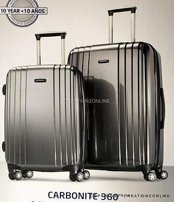 "Samsonite Carbonite Hardside 2 Pc Luggage Suitcase Set 19"" Carry-on 27"" Spinner"