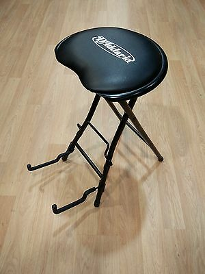 ~Uber Cool D'Addario Guitar Stool & Stand-Fits All Body Styles-Folds 4 Travel!~