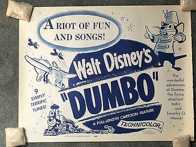 DUMBO Disney R1960 Half sheet original theatrical poster 22x28 scarce VF