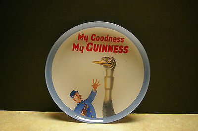 Vintage 'my Goodness My Guinness' Glass Advertising Plate