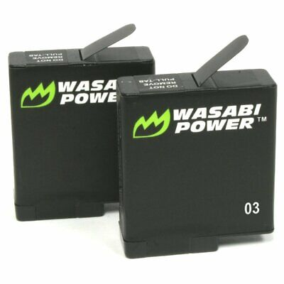 Wasabi Power Batteries for GoPro HERO5 Black (2 Pack)