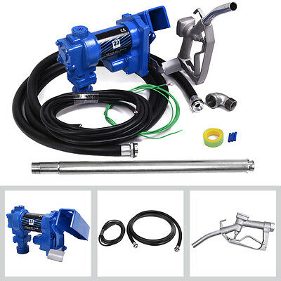 Fuel Transfer Pump 12 Volt 20 GPM Diesel Gasoline Kerosene Car Tractor Truck New