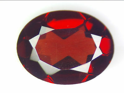 1.26 Ct Natural Red Pyrope Garnet Loose Gemstones Oval Faceted Cut 8.1X6.1
