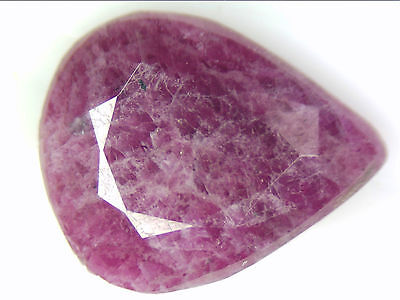 4.62 Ct Natural Ruby Pear Loose Gemstones 13 X 10 Mm Faceted Cut Untreated Red
