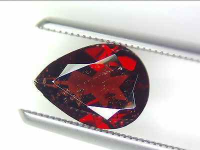 1.72 Ct Natural Red Pyrope Garnet Loose Gemstones Pear Faceted Cut 9.4 X 6.8 Mm