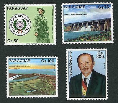 Paraguay 2097-2100 Re-Election Of President Stroessner Issues Of 1983  Mnh