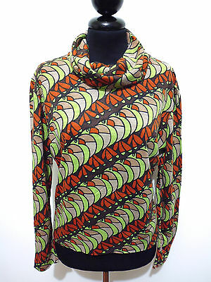 CULT VINTAGE '70 Maglia Donna Optical Tropical Woman Sweater T-Shirt Sz.L - 46