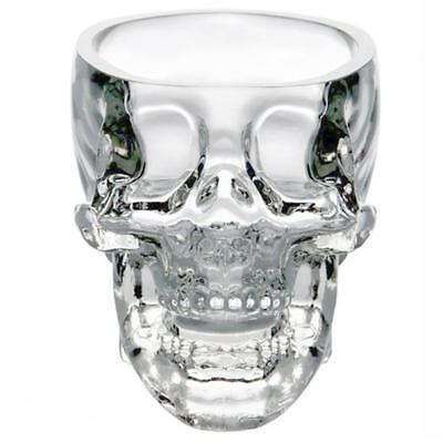 73ml Skull Head Whiskey Vodka Shot Drinking Ware Wine Glass Cup Bar Party