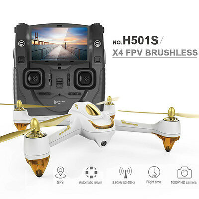 Hubsan H501S X4 Brushless Drone 5.8G FPV 10CH 6-axis Gyro / 10 Channel / 1080P