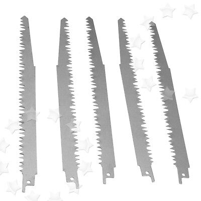 5 x High Carbon Steel Reciprocating Wood Saw Blades 240mm Sabre For Makita