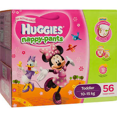 NEW Huggies Nappy-Pants Toddler 56 Pack