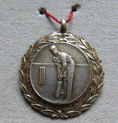 Solid Silver Hallmarked Vintage Cricket Medal Dating From 1946 - Post Free UK