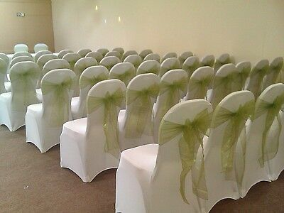 50 white Covers Spandex Lycra Chair Cover Wedding off white Party