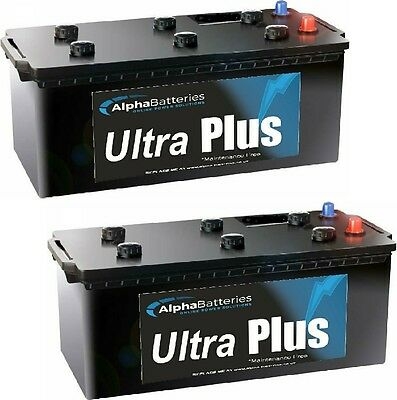 Pair Of 12V Type 625 Commercial Batteries. Great Quality, Heavy Duty
