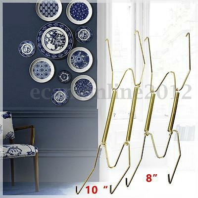 Lots 8/10'' Plate Spring Wall Hanger Holder Hanging Wire Various Sizes Art Decor