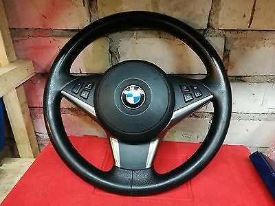 BMW E60/61 SPORT MULTIFUNCTION STEERING WHEEL with the orginal skin