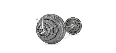 NEW 145kg Olympic Barbells Cast Tri Grip Barbell Kit 7ft Bar Weight Training Gea