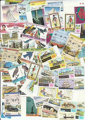 100 Different St Kitts Nevis Anguilla Stamp Collection MNH