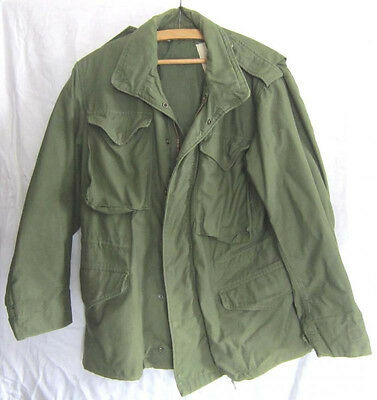 Original US Army PARKA M-65? Short/Small Coat Man's Field Cotton/Nylon Vietnam?