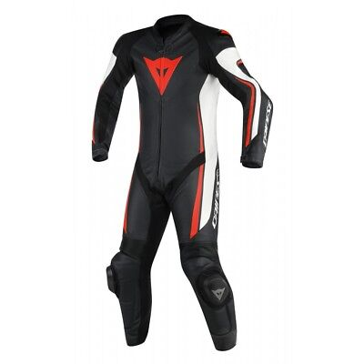 Dainese Assen Suit Perforated One 1 Piece Leather Motorcycle Motorbike Suit Red