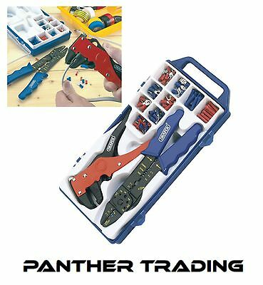 Draper Electricians Crimping Tool Wire Stripper Kit Crimper/Terminal Set - 33097